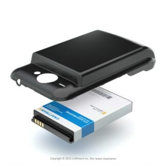 Аккумулятор повышенной емкости для HTC Wildfire в комплекте с крышкой черного цвета (black) (BB00100)