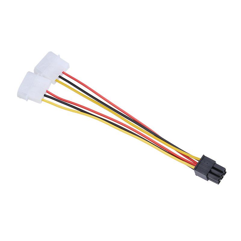 2 IDE Dual 4pin IDE Male to 6 Pin Female PCI-E 6